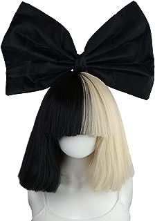 sia black and white wig