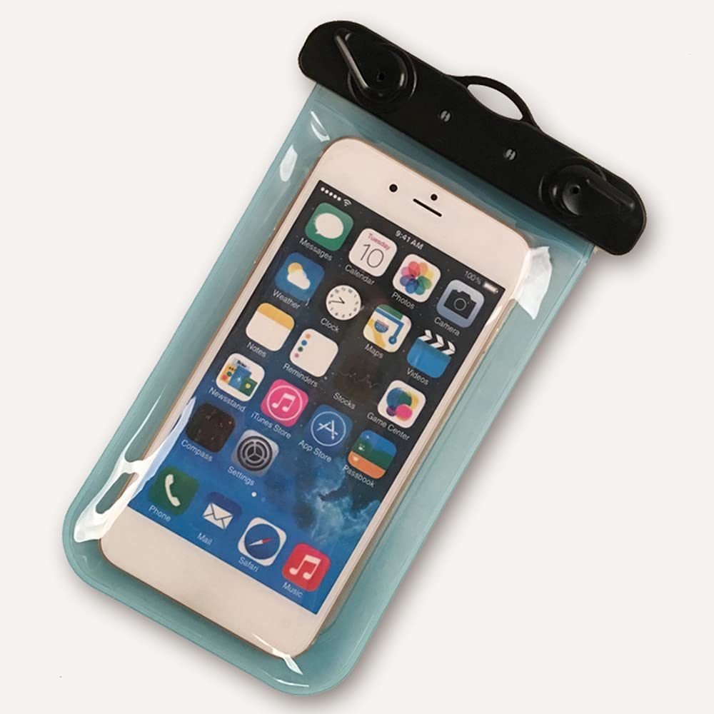 Prasacco Waterproof Phone Pouch Universal Underwater Case Touch Screen Clear Cellphone Dry Bag with Lanyard Outdoor Beach Swimming Phone Bag up to 6.0 Inch