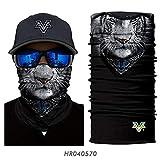 PAWANG Pañuelo sin Costuras 3D Feroz Tigre Lobo Lindo Cachorro Gato Boca Facial decoración de Cara de Halloween 50x25 cm