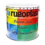 Pintura Piscinas al Clorocaucho Azul/Blanco (20Kg, Blanco H 24) Envío GRATIS 24h.