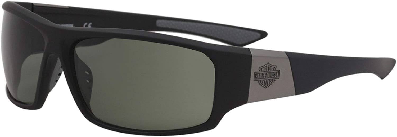 Harley Davidson Eyewear HD0912X Sunglasses - Matte Black Frame, Smoke Lenses, 64 mm HD0912X6402A