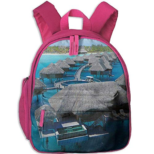 Four Seasons Resort Bora Bora Funny Kids Bags Boys and Girls School Backpack