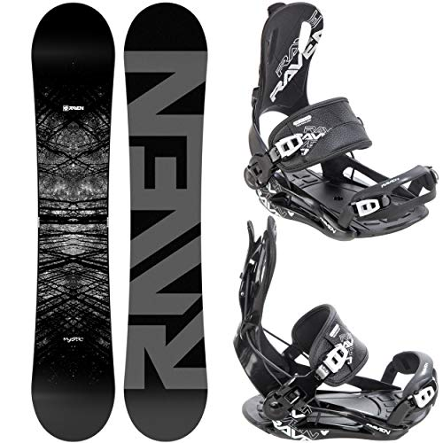 RAVEN Snowboard Set: Snowboard Mystic + Bindung Fastec FT270 Black (150cm + FT270 Black M)