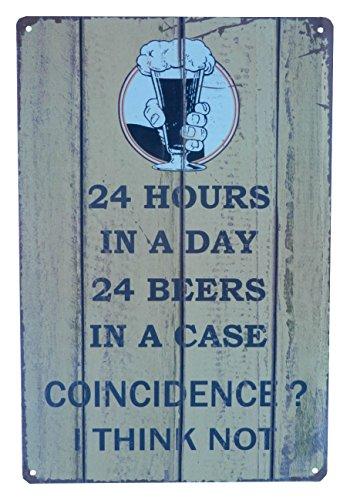 Strosportsandtech Beer Alcohol Drinking Funny Vintage Retro Tin Sign