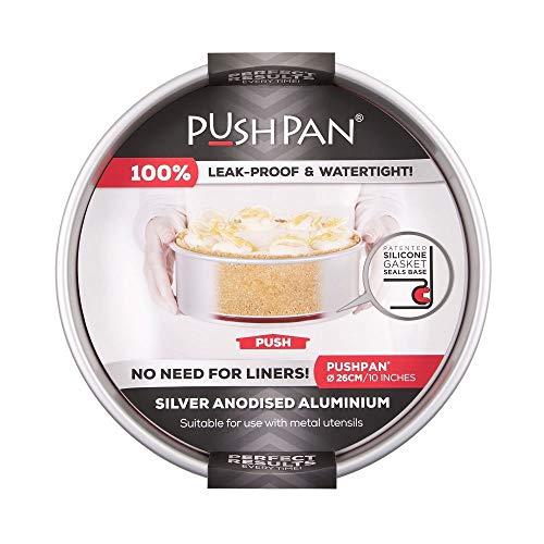 PushPan Backform aus Aluminium, flach, rund, 25,4 cm