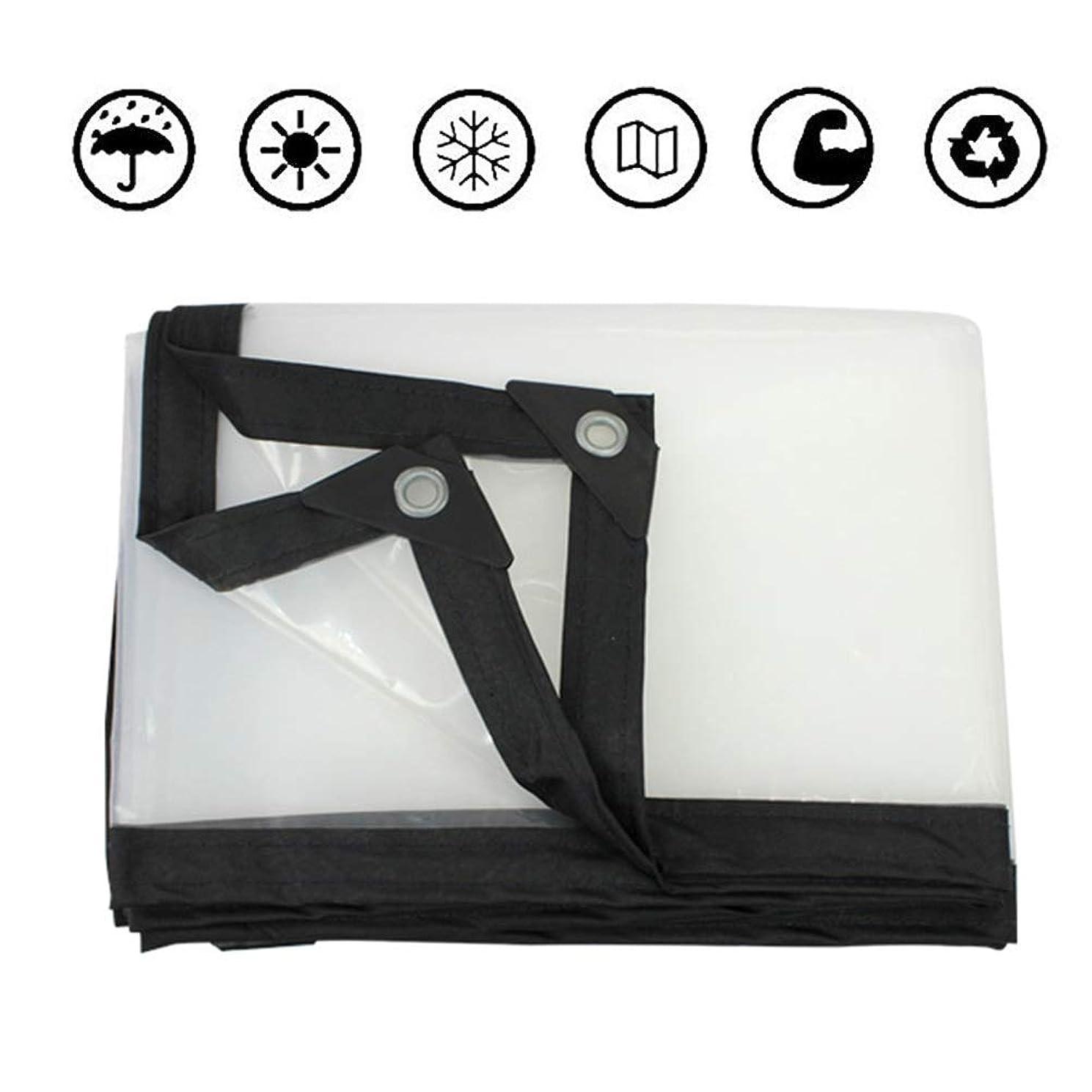 好み必要ない第WYUKUAN ターポリンタープバルコニー用日よけ防水布温室フィルム家具保護、24サイズ (Color : Clear, Size : 5.0X10.0M)