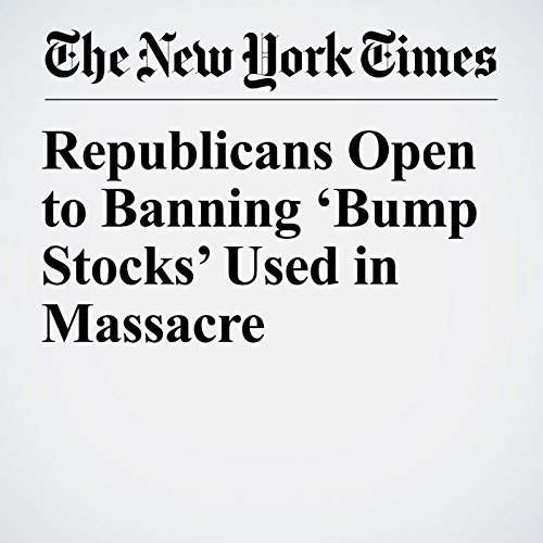 Republicans Open to Banning 'Bump Stocks' Used in Massacre copertina