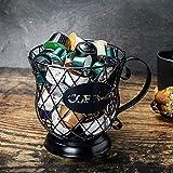 KOBSAINF Coffee Pod Holder and Organizer Mug Iron Wire Large Capacity Coffee Storage Carousel Holder...