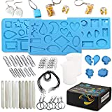 Conicare Jewelry Resin Mold Kit - 171 Pcs Resin Jewelry Making Supplies Great Resin Necklace Molds & Gift Idea...