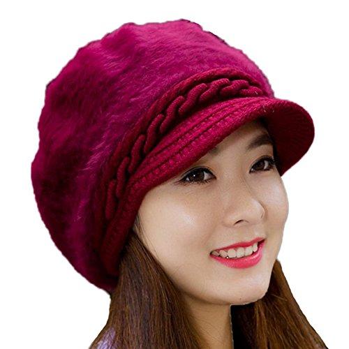 Leisial™ Caliente Gorro de Punto Crochet Boina de Mujeres Invierno S