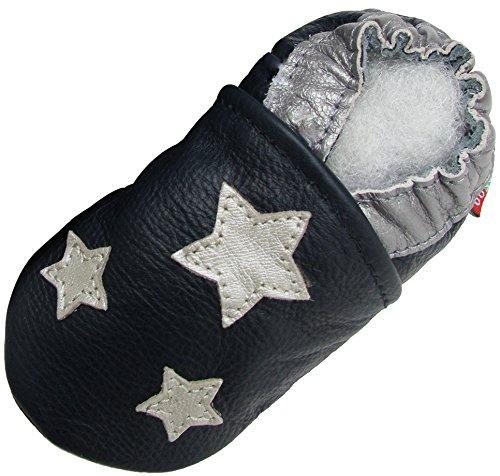 Carozoo Silver Star Dark Blue 6-12m