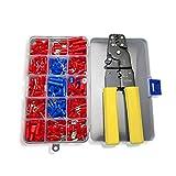 Nuzamas Pince à sertir Pince câble Outil de coupe fil 0,5~ 6.0mm AWG 23–10Comprend 230connecteur terminal kit