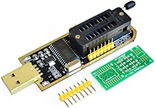 AiTrip USB Programmer CH341A for 24 I2C / 25 SPI Series EEPROM BIOS Chip with SOP8 SOP16 Converter for Motherboard Routing LCD