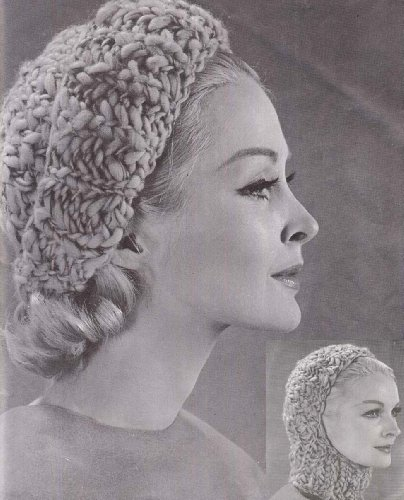 Convertible Stocking Cap Hat Hood Helmet Knitting Pattern Vintage Knit (English Edition)