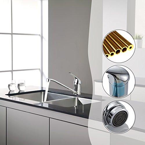 Auralum® Einhebel Spültisch Armatur Mischbatterie Wasserhahn Klasisch Design - 4