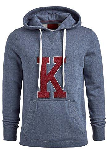 khujo Wilford Herren Sweatshirt mit Kapuze Sweater Pullover Kapuzenpullover (S, blau)