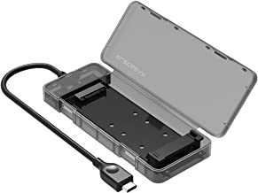 محفظه ElecGear M.2 to USB 3.1 Gen2 ، Case Adapter M2 NGFF، Reader M.2 SSD خارجی ، SATA based B Key Hard Disk Converter Caddy Caddy، 2230 2242 2260 2280، کابل USB C داخلی ، بدون ابزار