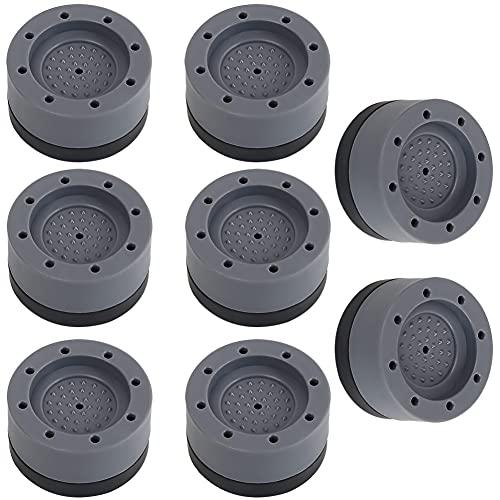 8PCS Amortiguadores de Vibración de Goma Unidades de Goma Antivibracion Patas para Lavadora Almohadillas Antivibración Lavadora para Secadora Lavavajillas Amortiguación de Vibración Accesorio