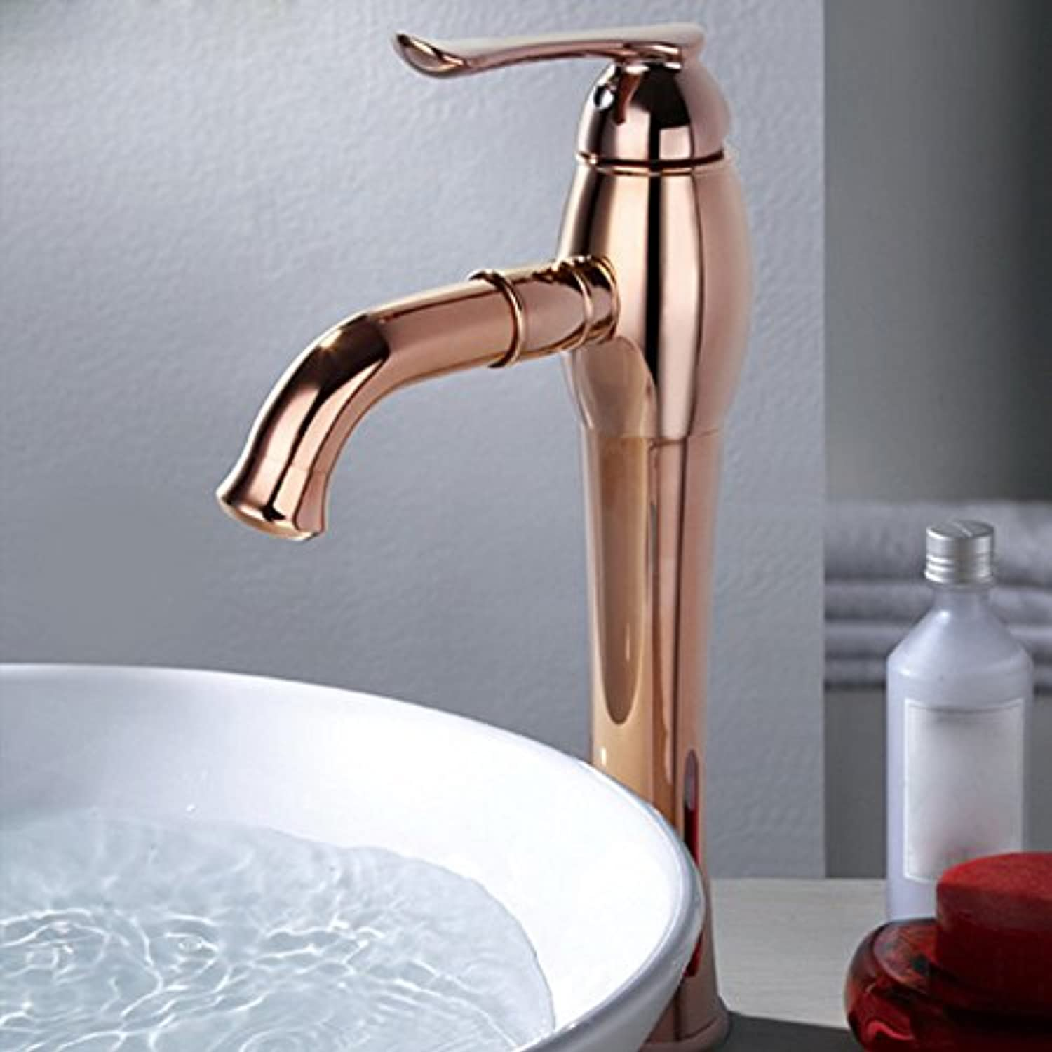 LHbox Basin Mixer Tap Bathroom Sink Faucet 0Y pure copper hot and cold basin faucet, pink gold