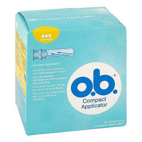 COMPACT Applicator f.o.b.Tampons normal 16er 16 St