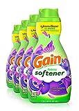 Gain Liquid Fabric Conditioner (Fabric Softener), Moonlight Breeze, 41 Oz Bottles, 4 Pack, 192 Loads Total (Packaging...