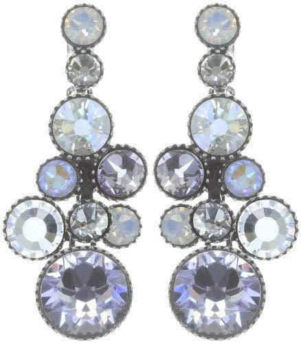 KONPLOTT Water Cascade earring stud dangling - white antique silver