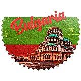 Weekino Flagge der Kathedrale von Sofia Bulgarien Kühlschrankmagnet 3D Polyresin Touristische Stadtreise City Souvenir Collection Geschenk Starker Kühlschrank Aufkleber