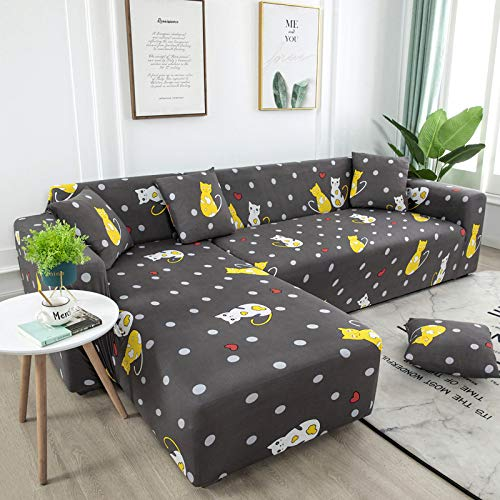 European-Style Fashion L-Shaped Printed Sofa Cover, Non-Slip, Anti-Fouling And Pet-Scratching Sofa Cushion, Elastic All-Inclusive Sofa Towel, Dirt-Resistant Office, Hotel, Restaurant, Study