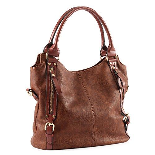 Plambag Ledertasche für Damen, modische Handtasche, Umhängetasche mit großer Kapazität