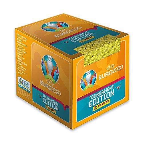 Euro 2020-UEFA Euro 2020 Stickers 2021 Tournament Edition Boite de 50 pochettes Cajita Sobres, Color Calabaza (Panini España 1)