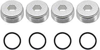 4X Alloy Front Hub Nut with O-Rings for Arrma 6s Notorious Kraton Outcast Typhon Talion Infraction Limitless Felony(Silver