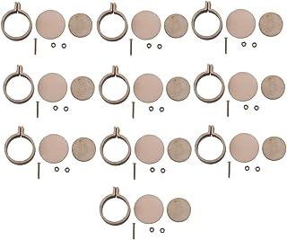 P Prettyia 10x Mini runde Stickrahmen Holzrahmen Hand Stickerei Stitching Hoop Rahmen DIY Anhänger Handwerk