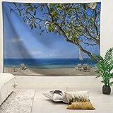 YOYNZY Tapestry Bali Hermoso Paisaje Tapiz Bohemian Beach Sea Tapiz Tapiz Decoración del Dormitorio Colgante De Pared B para Dormitorio Sala De Estar Decoración del Hogar-150X150Cm