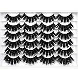 ALICE False Eyelashes 20MM Faux Mink Lashes 3D Dramatic Fake Eye Lashes Pack 12 Pairs