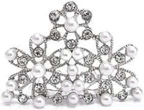 Utopiat Tiara Hair Piece, Audrey Hepburn Breakfast at Tiffany's, Girls Size, Rhinestone (Above 7 yo)