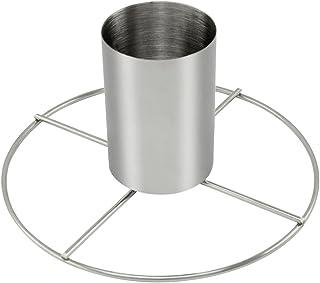 com-four® Asado de pollo de acero inoxidable, asado a la parrilla para cocinar pollo entero en el horno o en la parrilla con recipiente de aroma (01 Stück)