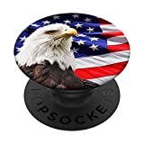 Pop Socket American Flag With Eagle Phone Grip PopSockets PopGrip: Swappable Grip for Phones & Tablets