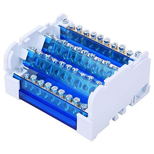 Scatola di distribuzione terminale, scatola di giunzione a 4 livelli 411 Blocco di cablaggio su guida DIN 125A 500 V 4 Morsettiera monofase ingresso 4