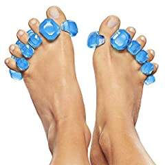 """GEMS SIZING WOMEN: US Shoe Sizes 6-11 / MEN: US Shoe Sizes 7-10 Avoid Counterfeits! Buy Patented YogaToes GEMS Only from Seller Store """"YogaToes""""! Doctor Recommended Toe Stretchers Straighten Toes & Increase Flexibility QTY: ONE PAIR -- Made in USA fr..."""