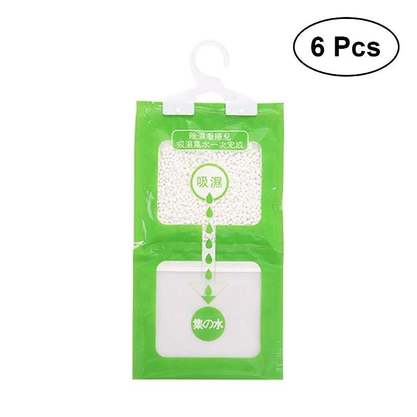 延ばすふつう支払いHealifty ハンギングモイスチャーアブソーババッグワードローブ除湿器吸湿性アンチモールドデシカントグリーン6個