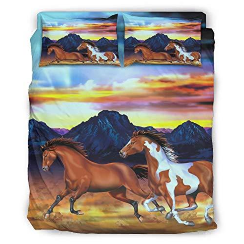 Juego de ropa de cama (4 piezas, fundas de almohada y edredón, suave y cómodo, 240 x 264 cm), color blanco