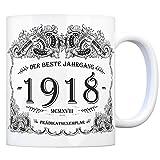 Lieferumfang: 1x 1918 der beste Jahrgang Kaffeebecher 1918 ist einfach der beste Jahrgang. Aus diesem Kaffeebecher schmeckt der Morgenkaffee zeitlebens einfach am Besten! Ein tolles Geschenk zum [ber_jahrgeb]. Geburtstag Das Etikett ist hochwertig mi...