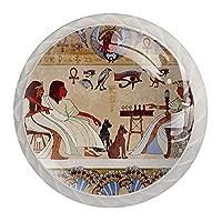 引き出しハンドルキャビネットノブ 4つの引き出しノブのラウンドパック,エジプトの装飾