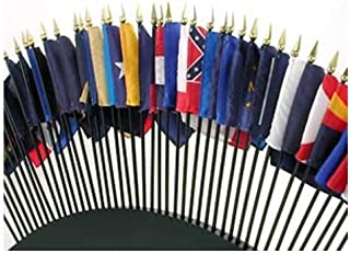 Online Stores State Flags, 4 by 6-Inch, Set of 50