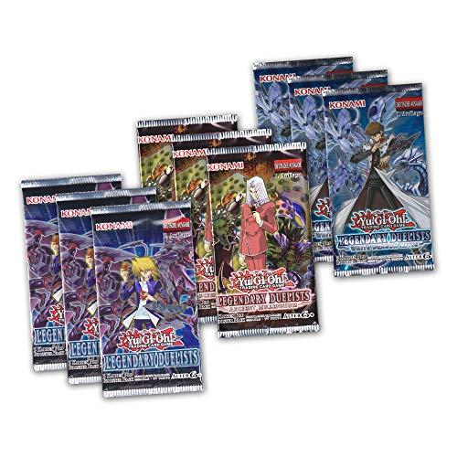 Yu-Gi-Oh! Geschenk Spar-Set - 9 Booster Packungen Legendary Duelists Ancient Millennium White Dragon Abyss - deutsche Ausgabe