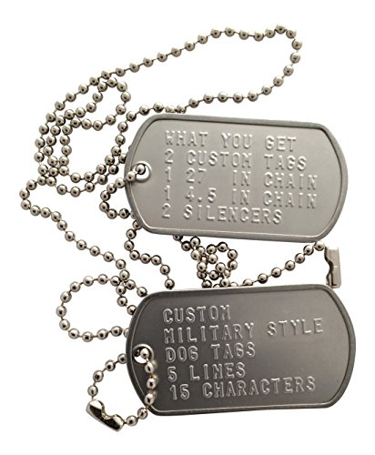 Custom Military Style Dog Tags Mirror Polished Finish