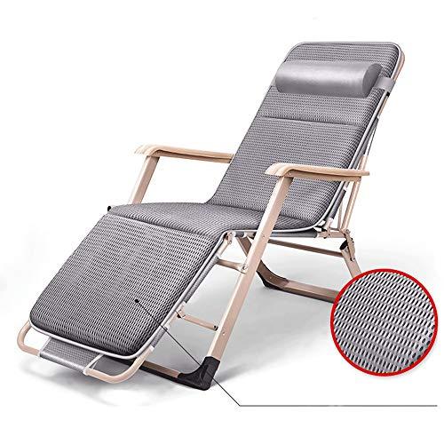 LCTCDD Lounge Chair Patio Pliable pour Le portique extérieur , Fauteuil de terrasse extérieur verrouillable par gravité zéro Fauteuil inclinable réglable XL rembourré avec Appui-tête 450lbs