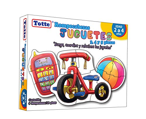 Totte 4 Progressive Jigsaw Puzzle Toys 3, 4, 5 and 6 Pieces