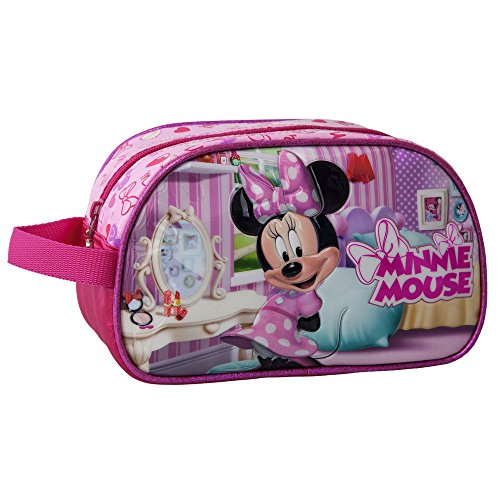 DISNEY Trousse de Toilette Adaptable Minnie Vanity, 24 cm, Rose
