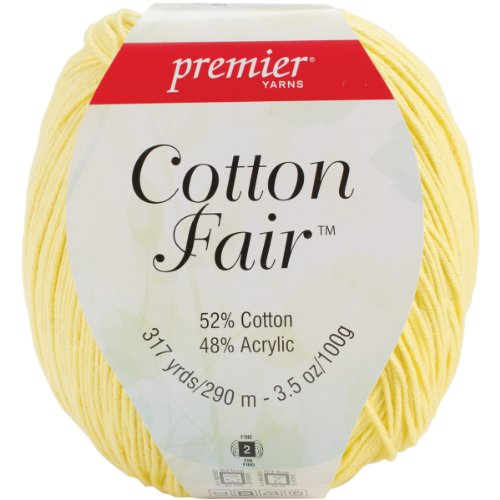 Premier Yarn 61892s Cotton Fair - Ovillo de lana maciza, 3 unidades